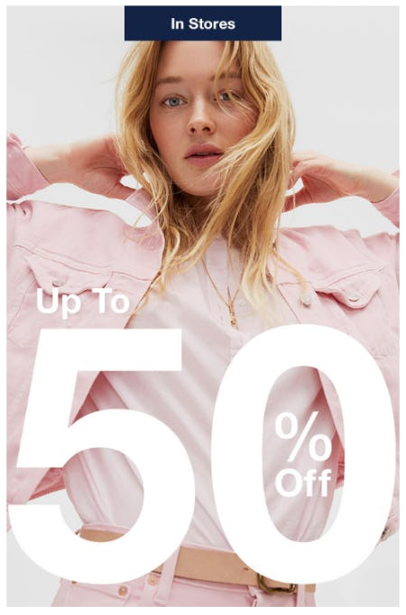 Up to 50% Off Sale from Gap