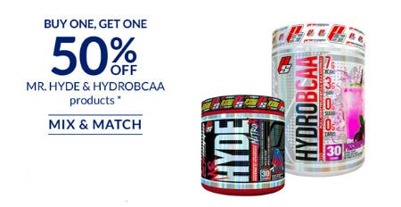 BOGO 50% Off Mr. Hyde and HydroBCAA Products from The Vitamin Shoppe