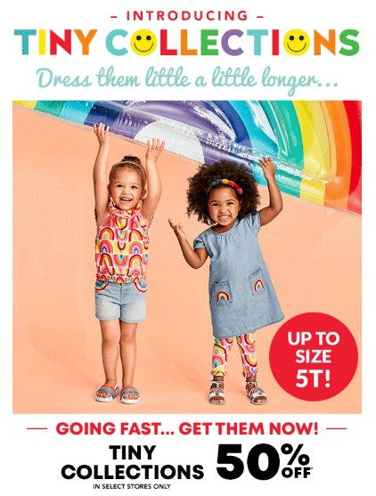 Tiny Collections 50% Off from Children's Place, The