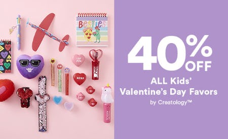 40% Off All Kids' Valentine's Day Favors from Michaels
