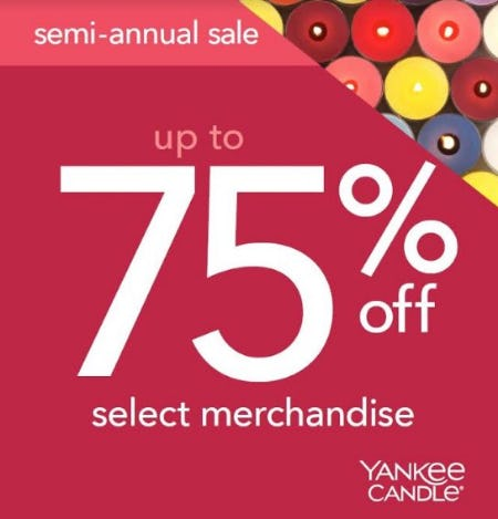 Up to 75% Off Select Merchandise from Yankee Candle