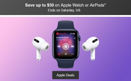 Save Up to $50 on Apple Watch or AirPods from Target