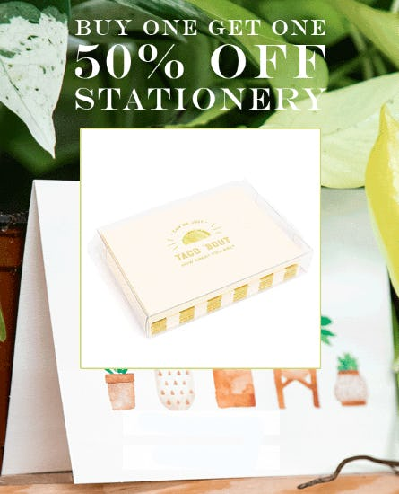 BOGO 50% Off Stationery from PAPYRUS