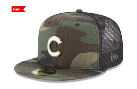 a57f7545 Chicago Cubs New Era MLB Camo Mesh Back 59FIFTY Cap from Lids