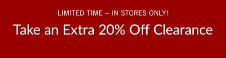 Extra 20% Off Clearance from Pottery Barn