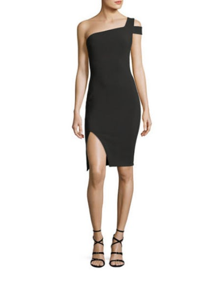 Likely Packard One-Shoulder Cocktail Dress from Neiman Marcus