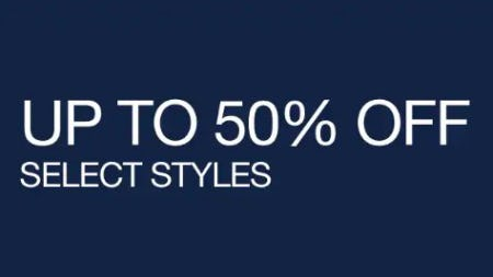 Up to 50% Off Select Styles from Gap