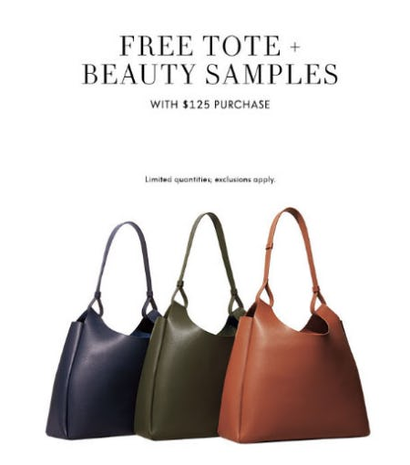 Free Tote & Samples with $125 Purchase