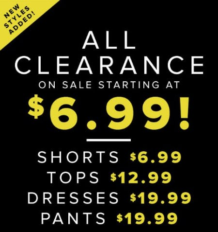 All Clearance on Sale Starting at $6.99 from New York & Company