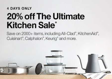 20% Off The Ultimate Kitchen Sale