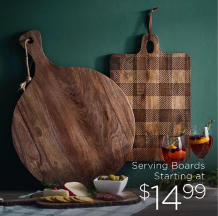 Serving Boards Starting at $14.99 from Kirkland's