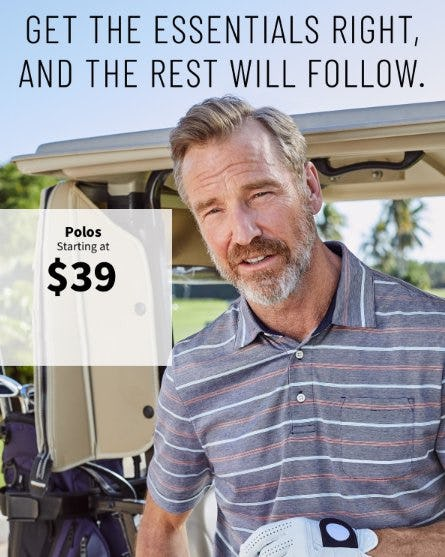 Polos Starting at $39 from Jos. A. Bank