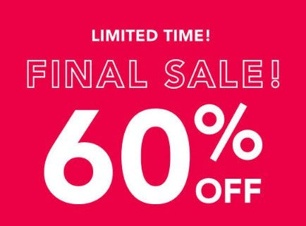60% Off Final Sale from Lane Bryant