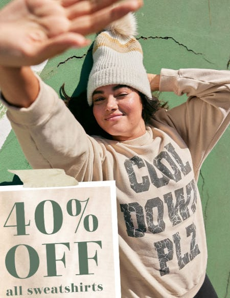 40% Off All Sweatshirts from Aerie