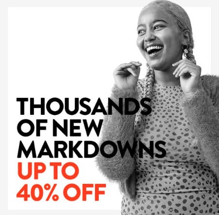 Thousands of New Markdowns up to 40% Off from Nordstrom