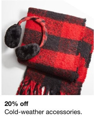 20% Off Cold-Weather Accessories from macy's