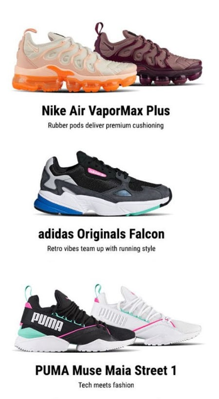 New Releases from Nike, adidas Originals & PUMA from Lady Foot Locker