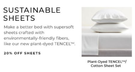 20% Off Sheets from Pottery Barn