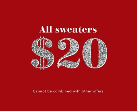 All Sweaters $20 from Aerie
