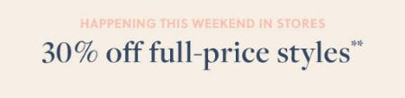 30% Off Full-Price Styles from J.Crew