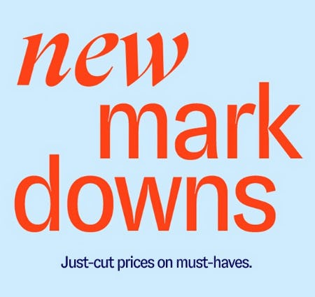 New Markdowns from Marshalls