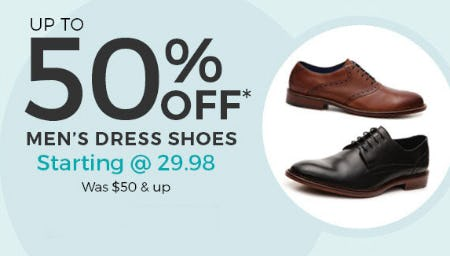 Up to 50% Off Men's Dress Shoes from Stein Mart