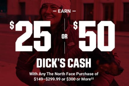 Earn $25 or $50 Dick's Cash from Dick's Sporting Goods