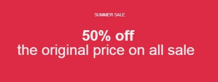 50% Off the Original Price on All Sale from ALDO