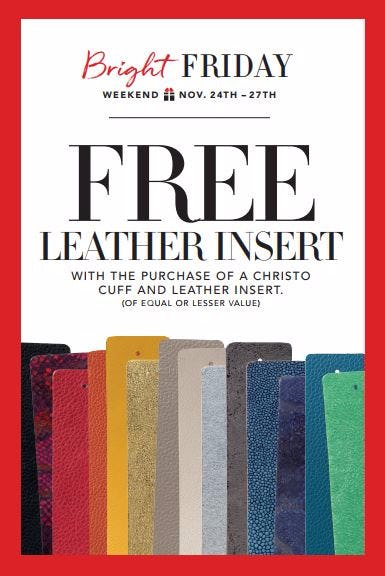 Get a 2nd Leather Insert FREE