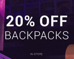 20% Off Backpacks from Hibbett Sports