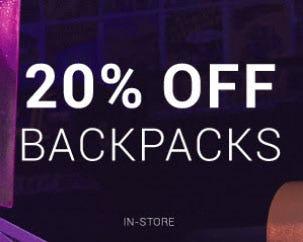 20% Off Backpacks from Hibbett Sports