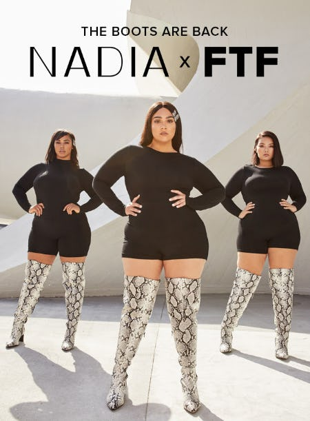 Restocked: The Nadia X FTF BOOTS from Fashion To Figure
