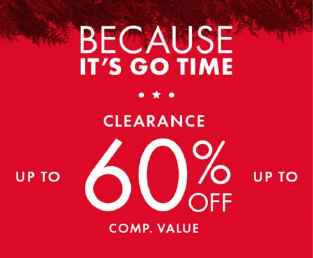 Clearance: Up to 60% Off Comp. Value