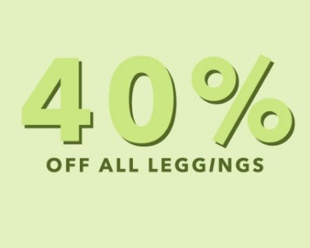 40% Off All Leggings