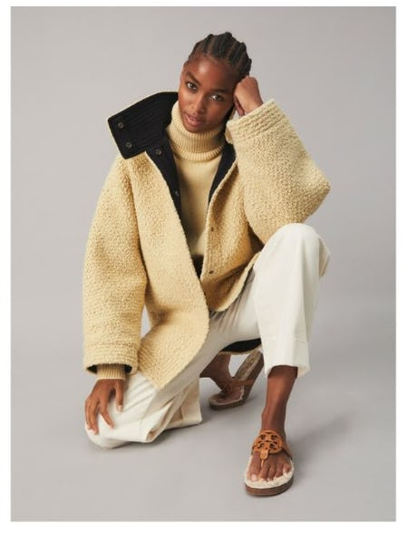 Miller Cloud in Shearling from Tory Burch