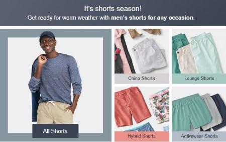It's Shorts Season