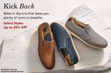 Up to 25% Off Slip-Ons from Johnston & Murphy