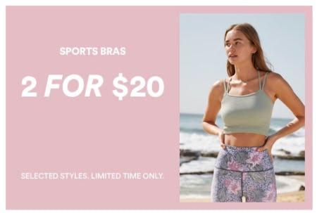 2 for $20 Sports Bras