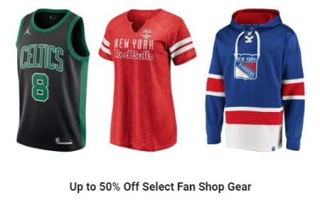 Up to 50% Off Select Fan Shop Gear