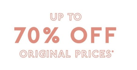 Up to 70% Off Original Prices from Madewell