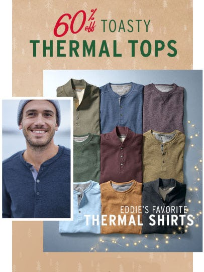 60% Off Toasty Thermal Tops from Eddie Bauer
