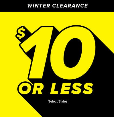 $10 or Less Select Styles from Rainbow