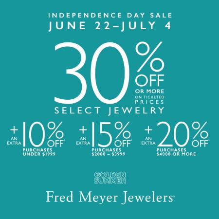 Independence Day Save More Event from Fred Meyer Jewelers