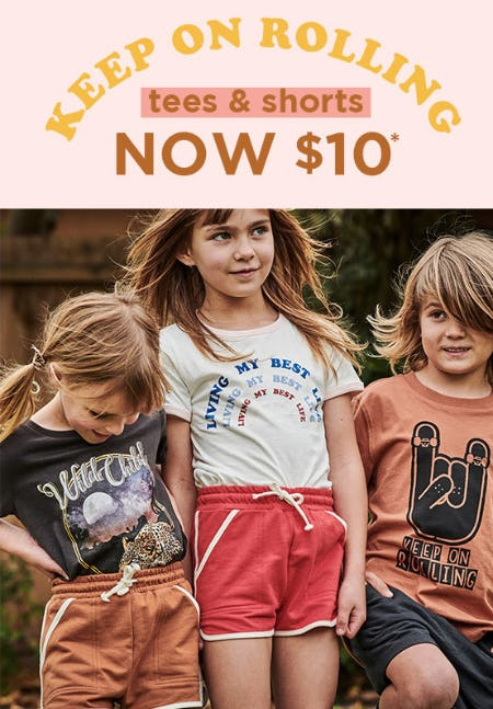 $10 Tees & Shorts from Cotton On Kids