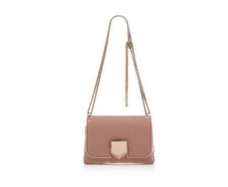 Ballet Pink Velvet Shoulder Bag