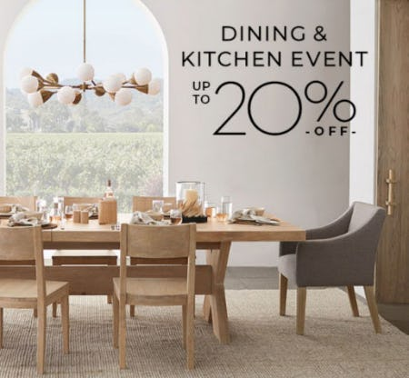 Up to 20% Off Dining & Kitchen Event