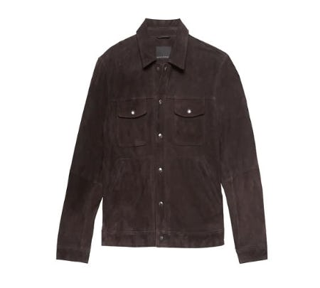 Suede Trucker Jacket from Banana Republic