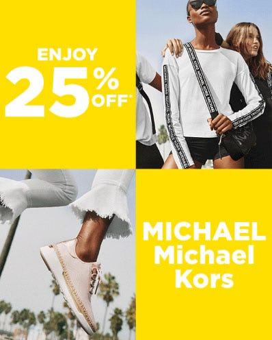 25% Off Select Michael Kors Items