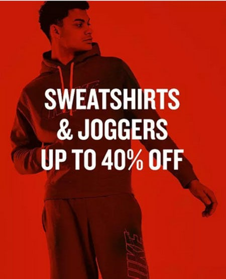 Sweatpants & Joggers Up to 40% Off from JD Sports