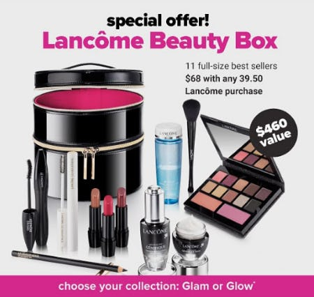 $68 Lancome Beauty Box with $39.50 Purchase from Belk